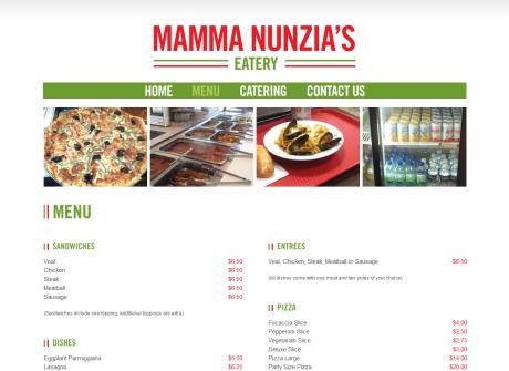 Mamma Nunzia's Eatery